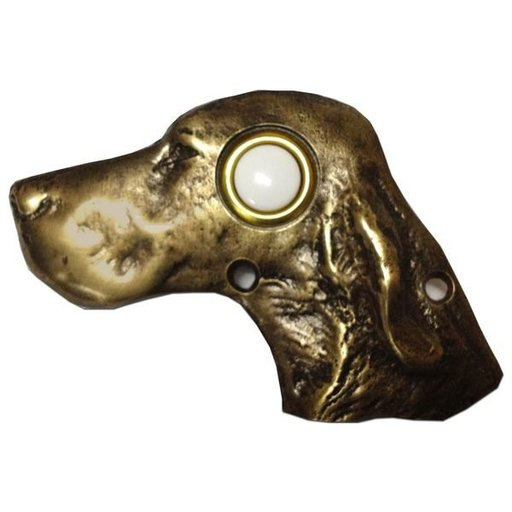 View a Larger Image of Dog Head Door Bell, Oil Rubbed Bronze, Model 924ORB