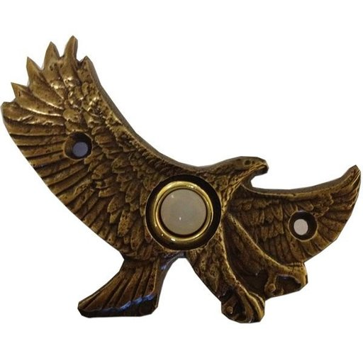 View a Larger Image of Eagle in Flight Door Bell, Antique Copper, Model 926AC