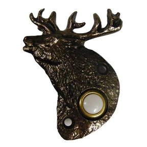 Elk Doorbell, Antique Copper, Model 929AC