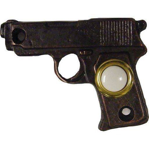 View a Larger Image of Gun Doorbell, Antique Brass, Model 928AB