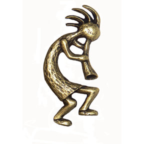 Kokopelli Pull Right Facing, Antique Brass, Model 264AB