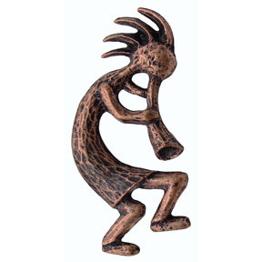 Kokopelli Pull Right Facing, Antique Copper, Model 264AC