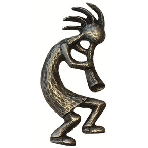 Kokopelli Pull Right Facing, Pewter, Model 264P