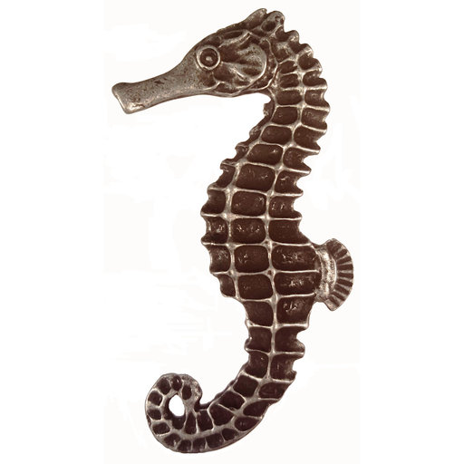 View a Larger Image of Large Seahorse Knob, Left, Pewter, Model 235P
