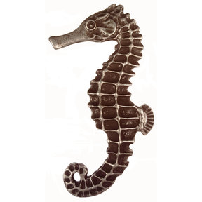 Large Seahorse Knob, Left, Pewter, Model 235P