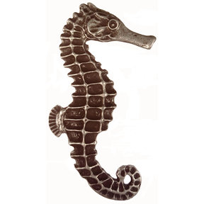 Large Seahorse Knob, Right, Pewter, Model 234P