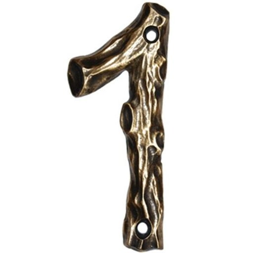 View a Larger Image of LHN1-N Log House Number 1, Nickel, 1 piece
