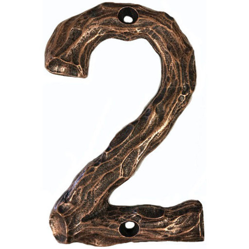 View a Larger Image of LHN2-AC Log House Number 2, Antique Copper, 1 piece
