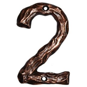 LHN2-N Log House Number 2, Nickel, 1 piece