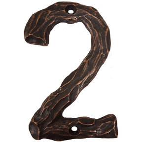 LHN2-ORB Log House Number 2, Oil Rubbed Bronze, 1 piece