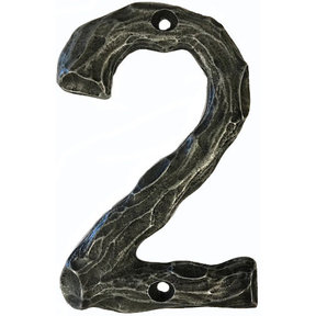 LHN2-P Log House Number 2, Pewter, 1 piece