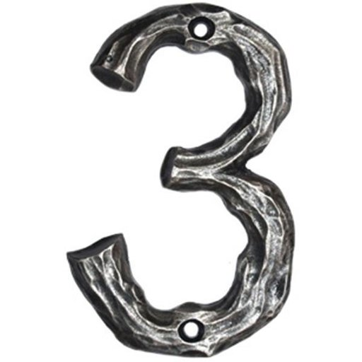 View a Larger Image of LHN3-N Log House Number 3, Nickel, 1 piece