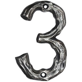 LHN3-N Log House Number 3, Nickel, 1 piece