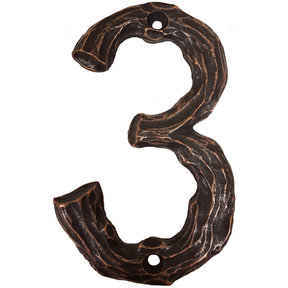 LHN3-ORB Log House Number 3, Oil Rubbed Bronze, 1 piece