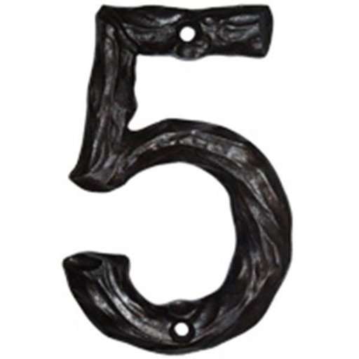 View a Larger Image of LHN5-N Log House Number 5, Nickel, 1 piece