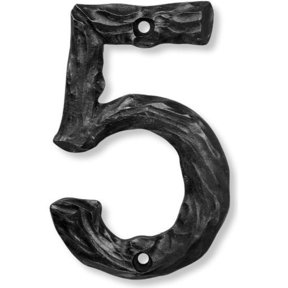 LHN5-P Log House Number 5, Pewter, 1 piece