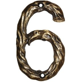 LHN6-N Log House Number 6, Nickel, 1 piece