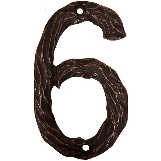 View a Larger Image of LHN6-ORB Log House Number 6, Oil Rubbed Bronze, 1 piece