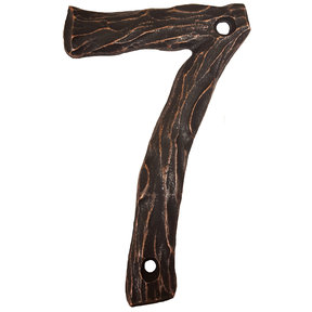 LHN7-ORB Log House Number 7, Oil Rubbed Bronze, 1 piece