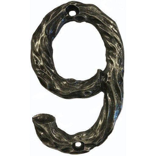 View a Larger Image of LHN9-P Log House Number 9, Pewter, 1 piece