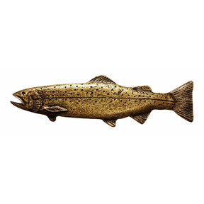 Long Trout Pull, Left, Antique Brass, Model 320AB