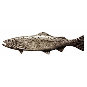 Long Trout Pull, Left, Pewter, Model 320P