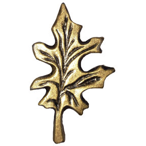 Oak Leaf Pull, Antique Brass, Model 142AB