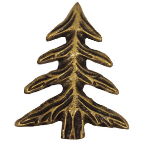 Pine Tree Pull, Antique Brass, Model 230AB