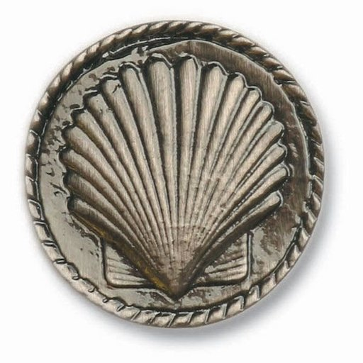 View a Larger Image of Small Sea Shell Pull, Antique Brass, Model 050AB