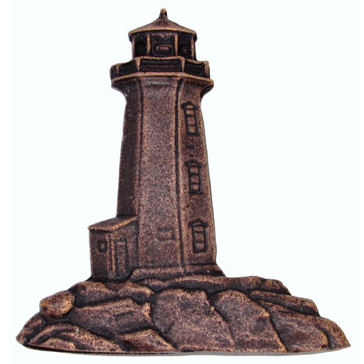 View a Larger Image of Stand Alone Lighthouse Pull, Antique Copper, Model 125AC