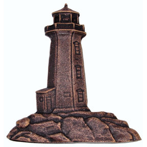 Stand Alone Lighthouse Pull, Antique Copper, Model 125AC