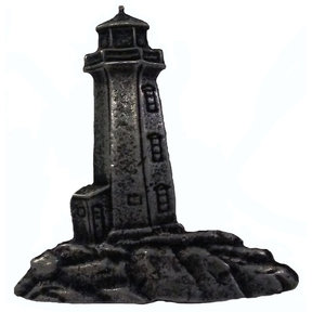 Stand Alone Lighthouse Pull, Pewter, Model 125P