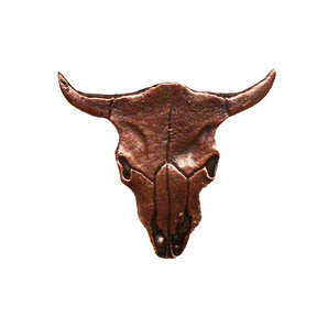 Steer Skull Pull, Antique Copper, Model 045AC