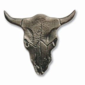 Steer Skull Pull, Nickel, Model 045N