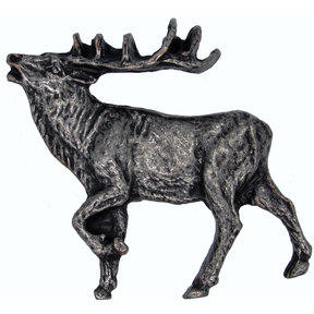 Walking Elk Pull Left Pewter Model 051P