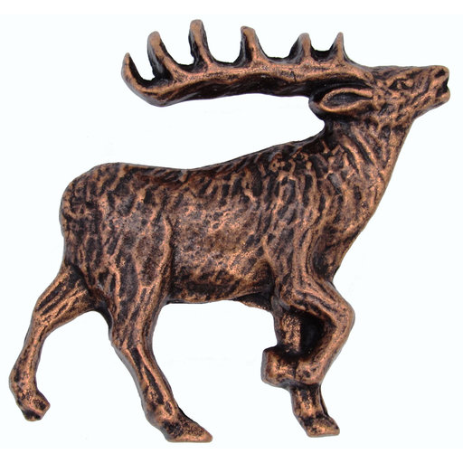 View a Larger Image of Walking Elk Pull Right Antique Copper Model 271AC