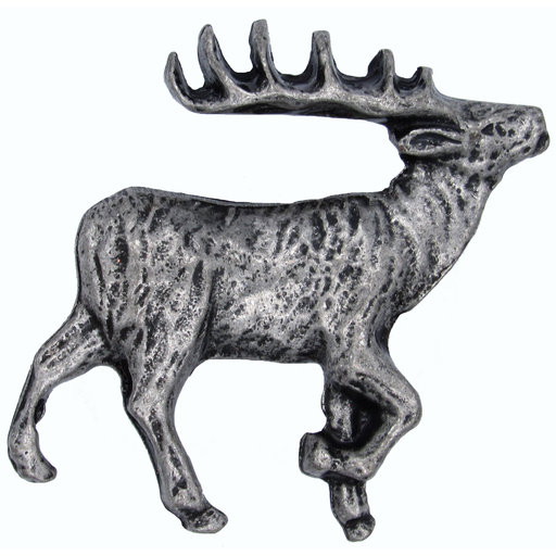 View a Larger Image of Walking Elk Pull Right Pewter Model 271P