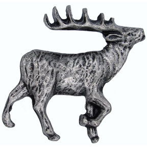Walking Elk Pull Right Pewter Model 271P