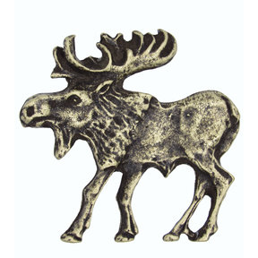 Walking Moose Pull, Left, Antique Brass, Model 002AB