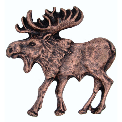 View a Larger Image of Walking Moose Pull, Left, Antique Copper, Model 002AC