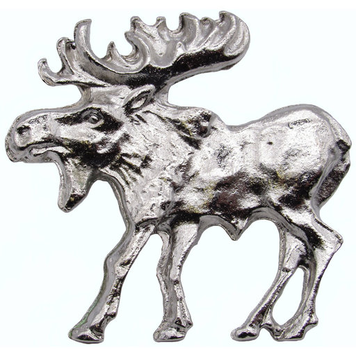 View a Larger Image of Walking Moose Pull, Left, Nickel Model 002N