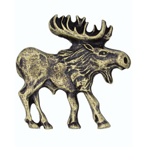 Walking Moose Pull, Right, Antique Brass, Model 183AB