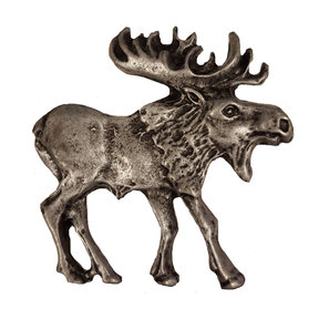 Walking Moose Pull, Right, Pewter, Model 183P