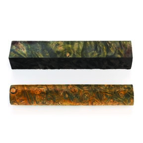 Buckeye Burl Stabilized Double Dyed Pen Blank Gold/Black 1-piece
