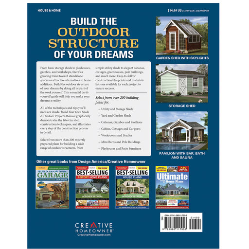 View a Larger Image of Build Your Own Sheds & Outdoor Projects Manual