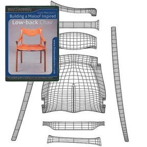 Building a Maloof Inspired Low Back Chair DVD & Template