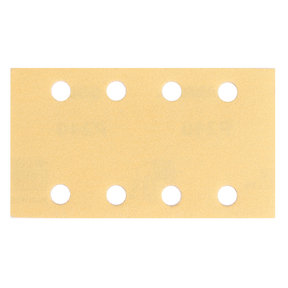 "GOLD 3""x5"" Grip Sandpaper, 8H P80, 50 Sheets/Box"