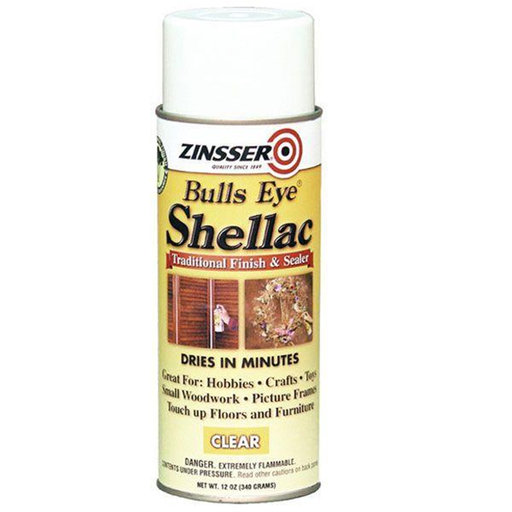 View a Larger Image of Bulls Eye Clear Shellac, 12 -oz Spray