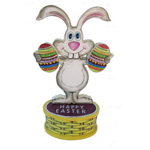View a Larger Image of Bunny Greeter  Woodworking Pattern and Picture