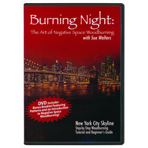 Burning Night: The Art of Negative Space Woodburning DVD